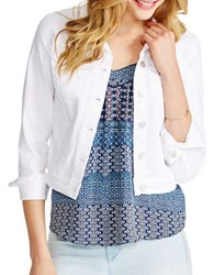 Jessica Simpson Solid Long Sleeve Pixie Jacket White