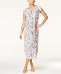 Charter Club Crinkle Printed Knit Nightgown Only At Macy's Blooming Flowers