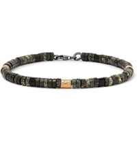 Bottega Veneta Beaded Bracelet Green