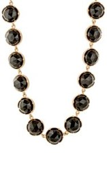 Irene Neuwirth Women's Onyx Circular Link Necklace Colorless