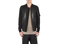 Rick Owens Men's Cotton Blend Embroidered Flight Bomber Jacket No Color