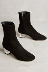Anthropologie Deimille Noha Lucite Heel Booties Black