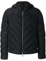 Versace Collection Padded Jacket With Chevron Effect Feather Down Polyamide Polyester Black