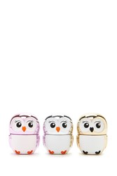 Forever 21 Owl Lip Gloss Set Gold Silver