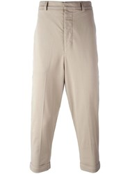 Ami Alexandre Mattiussi Oversize Carrot Fit Trousers Nude Neutrals