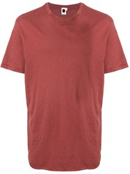 Bassike Crew Neck T Shirt Red
