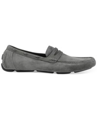 Marc New York Astor Penny Drivers Men's Shoes Ghost Grey Black Suede