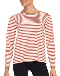 Max Mara Occhio Striped Tee Red