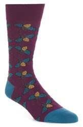 Ted Baker London Geox Print Socks Grey Marled