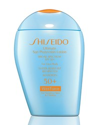 Ultimate Sun Protection Lotion Wetforce Spf 50 For Sensitive Skin And Children 3.3 Oz. Shiseido