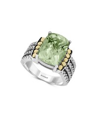 Effy 18K Goldplated Green Amethyst Sterling Silver Ring