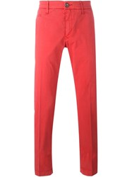Jacob Cohen Stretch Chino Trousers Red