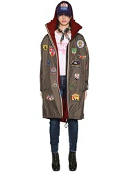Dsquared K Way Reversible Nylon And Wool Rain Parka