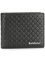 Baldinini Woven Wallet Calf Leather Black