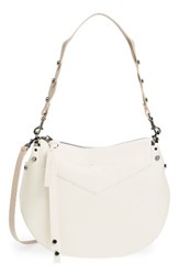 Jimmy Choo Artie Nappa Leather Hobo Bag White Chalk