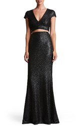 Dress The Population Women's Cara Two Piece Gown