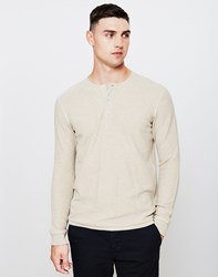 Lee 101 Henley T Shirt Off White Beige