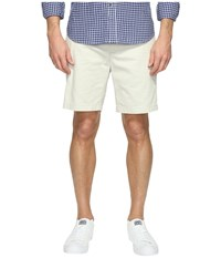 Nautica Anchor Twill Flat Front Shorts Stone Men's Shorts White
