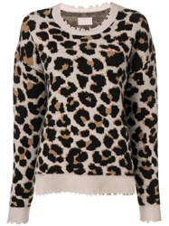Zadig And Voltaire Kansas Leopard Pullover Neutrals
