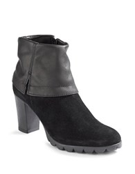 The Flexx Dip Rock Heeled Booties Black