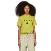 Ambush Ssense Exclusive Yellow Logo T Shirt