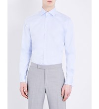 Corneliani Slim Fit Cotton Shirt Sky Blue
