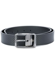 Canali Textured Buckle Belt Men Leather 95 Black