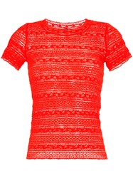 Marc Cain Embroidered Fitted T
