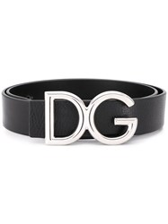 Dolce And Gabbana Dg Logo Belt Black