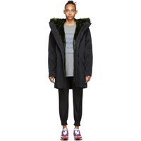 Opening Ceremony Reversible Black Fur Lined Coat
