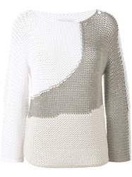 Fabiana Filippi Open Knit Sweater Women Cotton Polyamide 40 White