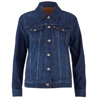 Levi's Women's Boyfriend Trucker Jacket Dark Fog Blue