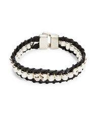 Uno De 50 Tubinatural Leather Bracelet Black