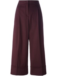 Odeeh Wide Leg Culottes Red