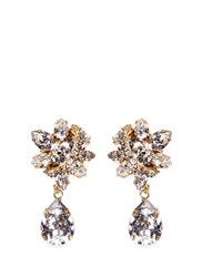 Erickson Beamon 'Parlor Trick' Swarovski Crystal Pear Drop Earrings White