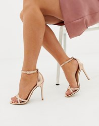 83f477cf8 Lipsy Twist Strap Barely There Sandal Gold