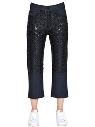 Diesel Black Gold Boyfriend Sequined Cotton Denim Jeans