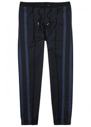 Christian Dior Homme Navy Striped Wool Jogging Trousers