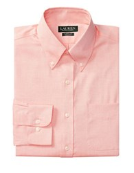 Lauren Ralph Lauren Classic Fit Pinpoint Oxford Dress Shirt Tangerine