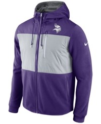 Nike Men's Minnesota Vikings Champ Drive Full Zip Hoodie Purple