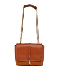 Foley Corinna Diane Leather Shoulder Bag Dark Brown