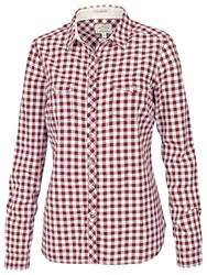 Fat Face Classic Fit Gingham Shirt Garnet