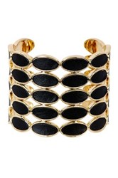 House Of Harlow Del Sol Leather Cuff Black