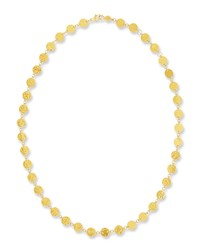 Gurhan Single Short Lush Necklace In 24K Gold 18