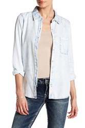 Silver Jeans Co. Long Sleeve Chambray Shirt Blue
