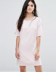 Traffic People Shift Dress With Bow Sleeve Pink