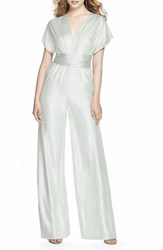 Dessy Collection 'S Twist Convertible Wide Leg Jumpsuit Silver Crush
