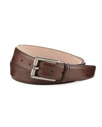 Magnanni Butterlight Square Buckle Calf Leather Belt Brown