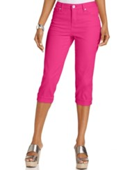 Styleandco. Style And Co. Tummy Control Cuffed Capri Jeans