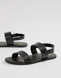fd53f3cf77d Kg By Kurt Geiger Double Strap Sandals In Black Leather